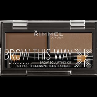Rimmel_Brow This Way_paleta cieni do stylizacji brwi mid brown 002, 2,4 g_1