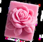 LaQ Róża w prostokącie