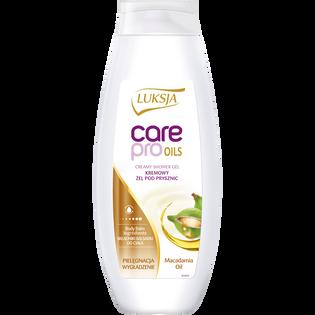 Luksja_Care Pro Oils_kremowy żel pod prysznic z olejkiem makadamia, 500 ml