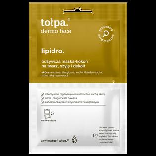 Tołpa_Dermo Face Lipidro_maska-kokon na twarz, szyję i dekolt, 2x6 ml/1 opak.