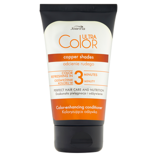 Joanna_Ultra Color_odżywka do włosów podkreślająca i odświeżająca odcienie rudości i miedzi na włosach farbowanych lub naturalnych, 100 g