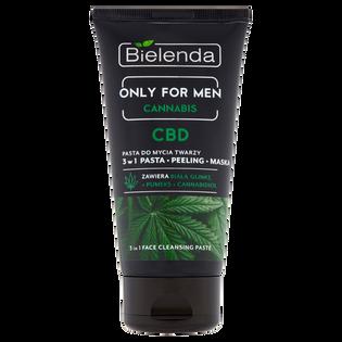 Bielenda_Only For Men Cannabis_multifunkcyjna pasta do mycia twarzy męska, 150 g