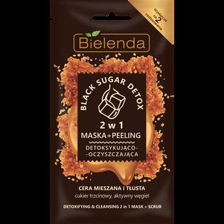 Bielenda_Black Sugar Detox_maska+peeling do twarzy detoksykująco-oczyszczająca, 8 g