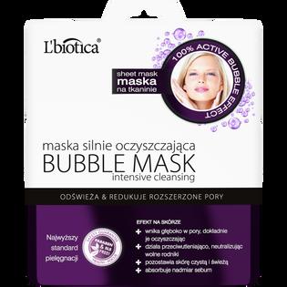 L'Biotica_Bubble_maska do twarzy odświażająca i redukująca rozszerzone pory, 23 ml