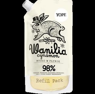Yope_Wanilia i Cynamon_zapas naturalnego mydła w płynie, 500 ml