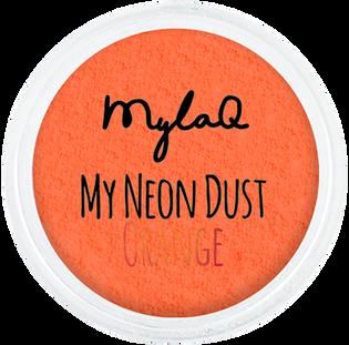 Mylaq_My Neon Dust Orange_pyłek do zdobienia paznokci, 1 szt._1
