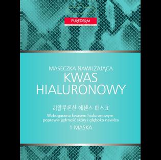 Purederm_Kwas hialuronowy_maseczka do twarzy z kwasem hialuronowym, 1 szt.