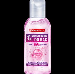 Cleanhands_odświeżający żel antybakteryjny do rąk z kolagenem i witaminą E, 50 ml