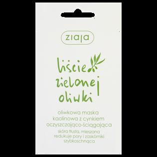 Ziaja_Liście Zielonej Oliwki_oliwkowa maseczka kaolinowa do twarzy z cynkiem oczyszczająco-ściągająca, 7 ml