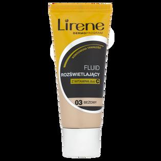 Lirene_Dermoprogram_rozświetlający podkład w płynie do twarzy z witaminą C beżowy 03, 30 ml