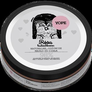 Yope_Róża, kadzidłowiec_naturalne, odżywcze masło do ciała, 200 ml