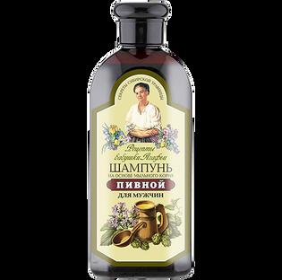 Babuszka Agafia_Korzenień mydlnicy lekarskiej_ziołowy piwny szampon do włosów dla mężczyzn, 350 ml