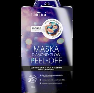 L'Biotica_Diamond Glow_maseczka peel-off do twarzy ujędrnienie i odświeżenie, 10 g