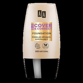 AA_Cover & Correct_kryjąco-korygujący podkład do twarzy natural 102, 30 ml