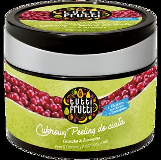 Tutti Frutti_Gruszka & Żurawina_peeling cukrowy do ciała, 300 g