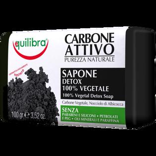 Equilibra_Carbone Attivo_roślinne mydło oczyszczające z aktywny węglem, 100 g