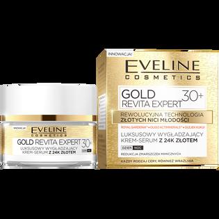 Eveline_Gold Revita Expert 30+_luksusowy wygładzający krem-serum z 24k złotem 30+, 50 ml