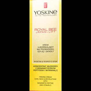 Yoskine_Royal Bee Japan-Lift_krem ujędrniający na podbródek, szyję i dekolt z biomimetycznym peptydem i witaminą C, 75 ml_2