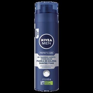 Nivea Men_Protect & Care_pianka do golenia twardego zarostu, 200 ml