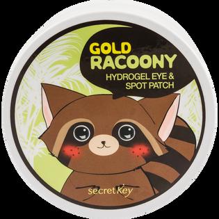 Secret Key_Gold Racoony_hydrożelowe płatki pod oczy ze złotem, 90 szt./1 opak.