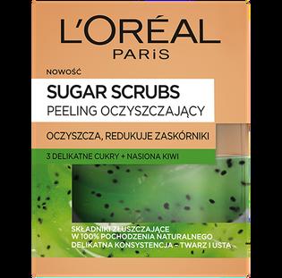 L'Oréal Paris_Sugar Scrubs_oczyszczający peeling z kiwi do twarzy, 50 ml