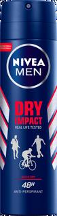 Nivea Men_Dry Impact_antyperspirant męski w sprayu, 150 ml
