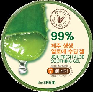 The Saem_Jeju Fresh_kojący żel do twarzy i ciała, 300 ml