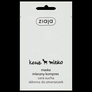 Ziaja_Kozie mleko_maska mleczny kompres do twarzy, 7 ml