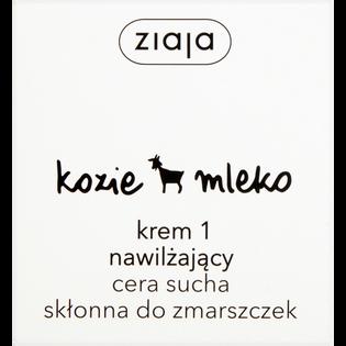 Ziaja_Kozie Mleko_krem nawilżający do twarzy dla cery suchej i skłonna do zmarszczek na dzień i na noc, 50 ml