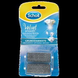 Scholl_Velvet Smooth Wet & Dry_wymienne głowice obrotowe gruboziarniste diament, 2 szt./1 opak.