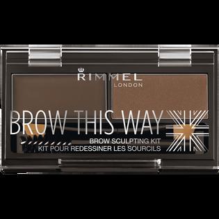 Rimmel_Brow This Way_paleta do brwi dark brown 003, 2,4 g_1
