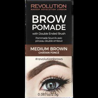 Revolution Makeup_Brown Pomade_pomada do stylizacji brwi medium brown, 8 g_2