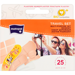 Matopat_Travel Set_zestaw plastrów, 25 szt./1 opak.