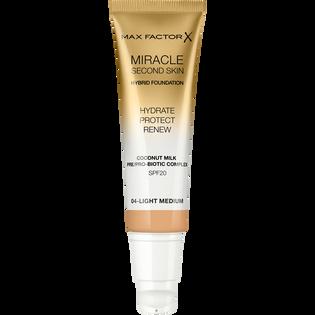 Max Factor_Miracle Second Skin_nawilżający podkład do twarzy SPF20 light medium 04, 30 ml_2