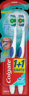 Colgate_60° Whole Mouth Clean_szczoteczka do zębów średnia, 2 szt./1 opak.
