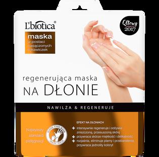 L'Biotica_regenerująca maska na dłonie w postaci rękawiczek, 26 ml/1 para