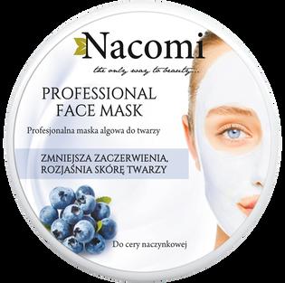 Nacomi_Professional_zmniejszająca zaczerwienienia maska algowa, 40 G
