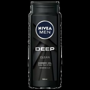 Nivea Men_Deep Clean_żel pod prysznic do ciała, twarzy i włosów męski, 500 ml