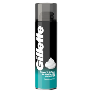 Gillette_Classic Sensitive Skin_pianka do golenia do skóry wrażliwej, 200 ml