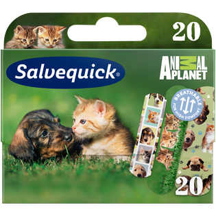 Salvequick_Animal Planet_plastry oddychające, odporne na wodę i brud, 20 szt./1 opak.