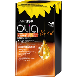 Garnier_Olia_farba do włosów 7.40 intensywna miedź, 1 opak.