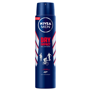 Nivea Men_Dry Impact_antyperspirant męski w sprayu, 250 ml