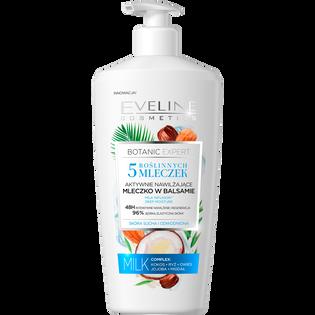 Eveline Cosmetics_Botanic Expert 5 Roślinnych mleczek_aktywnie nawilżające mleczko w balsamie do ciała, 350 ml