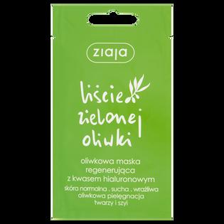 Ziaja_Liście Zielonej Oliwki_oliwkowa maseczka regenerująca do twarzy i szyi z kwasem hialuronowym, 7 ml