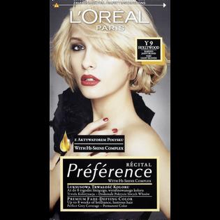 Loreal Paris_Récital Préférence_farba do włosów Y9 bardzo jasny blond, 1 opak.