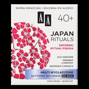 AA_Japan Rituals_wygładzający bio-krem do twarzy na noc 40+, 50 ml