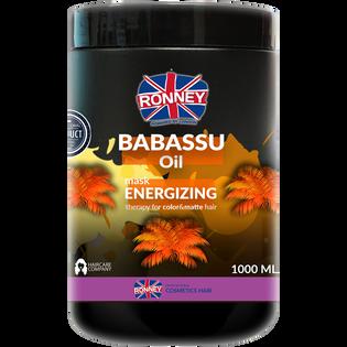 Ronney_Babassu Oil_enegretyzująca maska do włosów farbowanych i pozbawionych blasku, 1000 ml