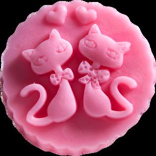 LaQ_Dwa kotki w medalionie_mydło glicerynowe, 60 g