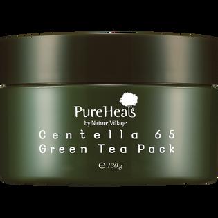 Pureheals_Centella 65_wygładzająca maska do twarzy z zieloną herbatą i wąkrotą azjatycką, 130 g_1