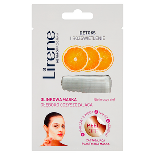 Lirene_Detox i rozświetlenie_glinkowa maska oczyszczająca do twarzy, 10 ml